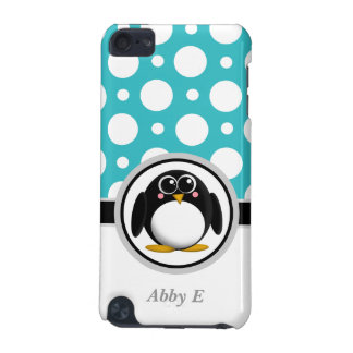 Penguin Turquoise Polka Dot iPod Touch 5G Case