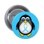 Penguin Turquoise Ribbon Gift Buttons