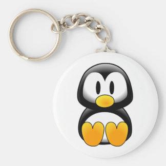 Penguin tux image keychain