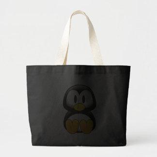 Penguin tux image large tote bag