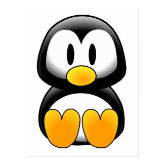 Penguin tux image postcard