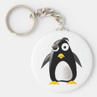 Penguin tux linux image key chain