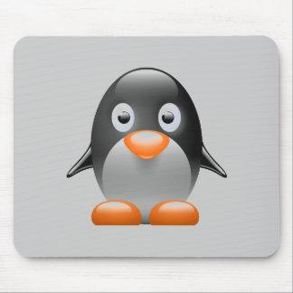 penguin tux linux image mouse pad