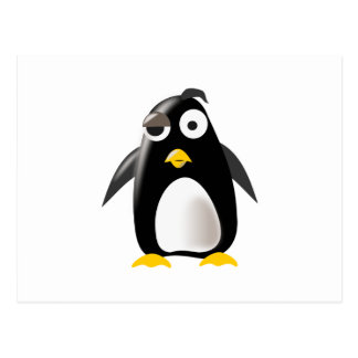 Penguin tux linux image post card