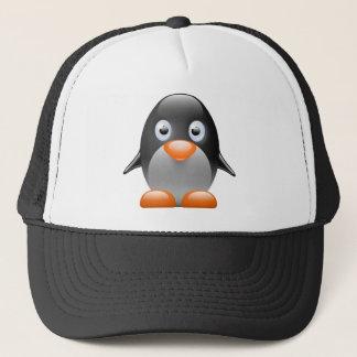 penguin tux linux image trucker hat