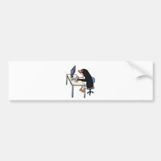 penguin tux system administrator car bumper sticker