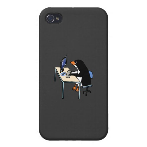 penguin tux system administrator cover for iPhone 4