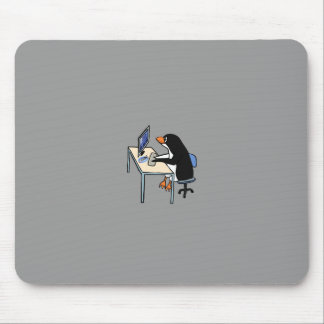 penguin tux system administrator mouse pad
