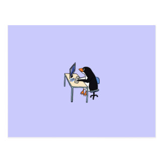 penguin tux system administrator postcard