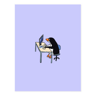 penguin tux system administrator postcard