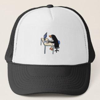 penguin tux system administrator trucker hat