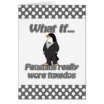 penguin tuxedos greeting card