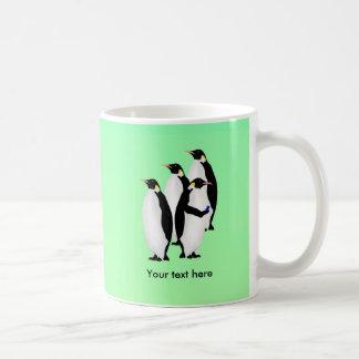 Penguin Using A Cellphone Coffee Mug