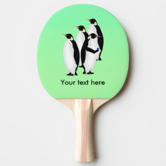 Penguin Using A Cellphone Ping-Pong Paddle