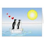 penguin valentine greeting card