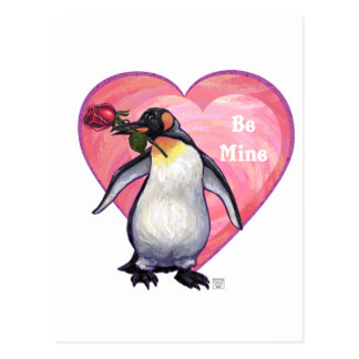 Penguin Valentine's Day Postcard
