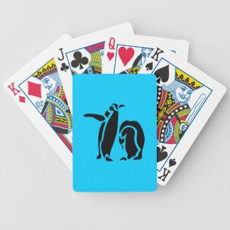 Penguin Vintage Wood Engraving Bicycle Playing Cards