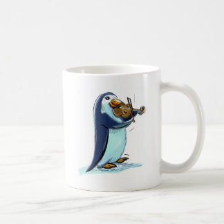 PeNgUiN ViOLiniSt Classic White Coffee Mug