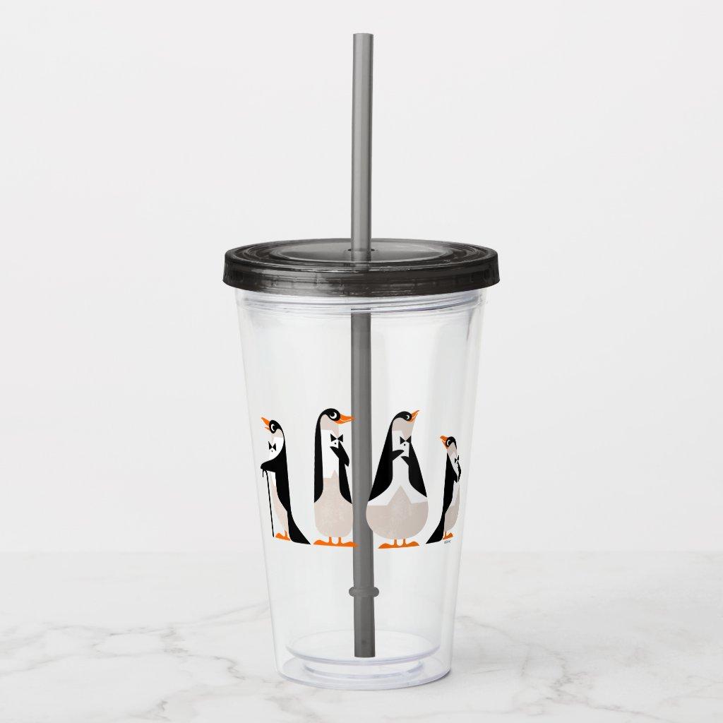 Penguin Waiters Acrylic Tumbler