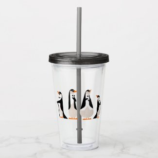 Penguin Waiters Acrylic Tumbler