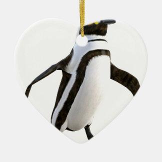 Penguin Walking Forward Ceramic Ornament