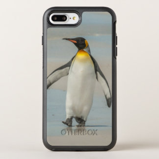 Penguin walking on the beach OtterBox symmetry iPhone 8 plus/7 plus case