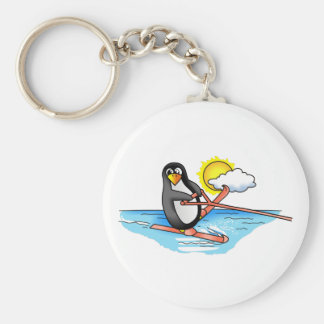 PENGUIN WATER SKIING KEYCHAINS