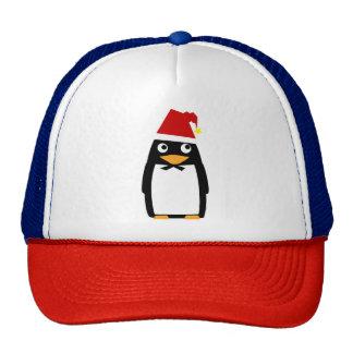Penguin wearing a Christmas Santa Hat