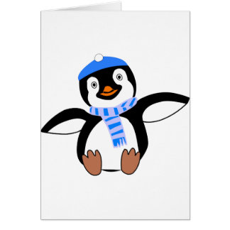 Penguin Wearing A Scarf Greeting Cards