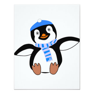 Penguin Wearing A Scarf Invitations