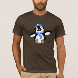 Penguin Wearing A Scarf Mens T-Shirt