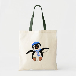 Penguin Wearing A Scarf Tote Bag