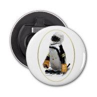 Penguin Wearing Hockey Gear Bottle Opener