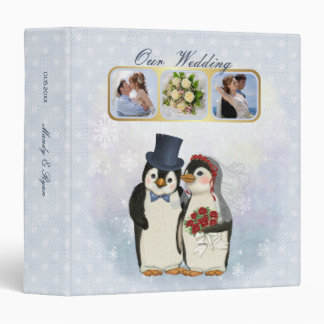 Penguin Wedding Keepsake Album Binder