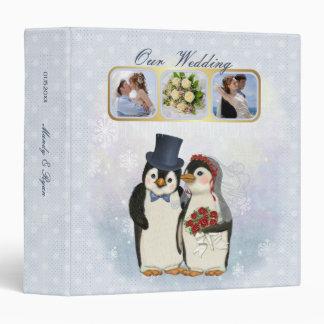 Penguin Wedding Keepsake Album Vinyl Binder