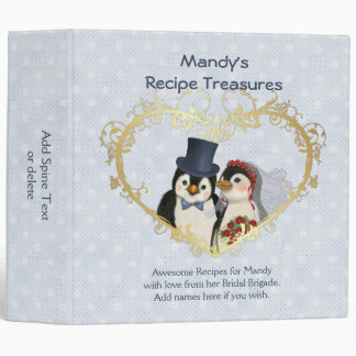 Penguin Wedding Recipe Treasures Binder