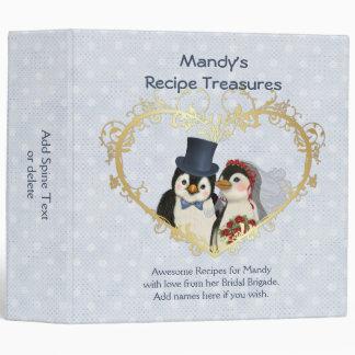 Penguin Wedding Recipe Treasures 3 Ring Binders
