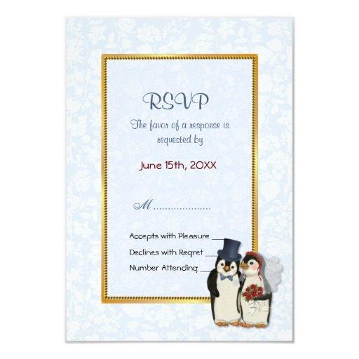 Penguin Wedding - RSVP Card