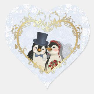 Penguin Wedding Stickers