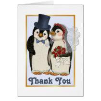 Penguin Wedding- Thank You Card