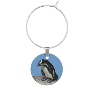 Penguin Wine Charm