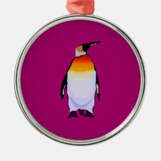 Penguin Wine Metal Ornament