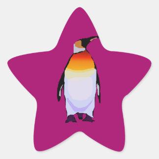 Penguin Wine Star Sticker