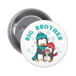 Penguin Winter Big Brother Button
