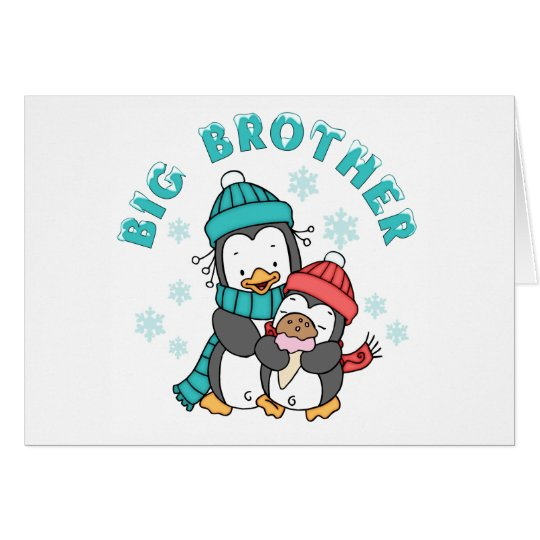 Penguin Winter Big Brother Card