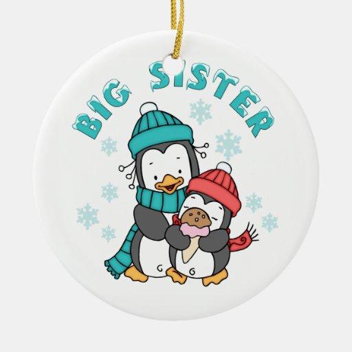 Penguin Winter Big Sister Christmas Ornament