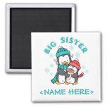 Penguin Winter Big Sister Refrigerator Magnets