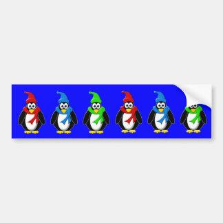 Penguin Winter Design Bumper Sticker