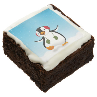Penguin Winter Illustration - Brownie