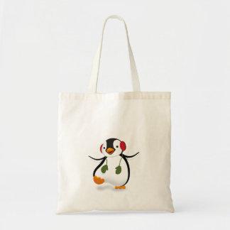 Penguin Winter Illustration - Budget Tote